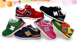 Wholesale Letter Hooks - High quality Children shoes N Letter casual slip breathable leather sneakers Kids shoes Children's shoe boy girl student shoe sports shoes