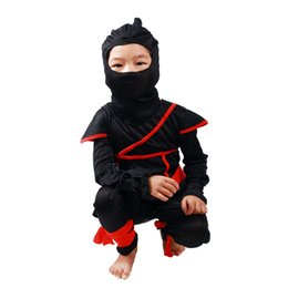 Wholesale Ninja Party - Wholesale Childrens Day Japan Ninja Role Play Costumes For Girls Christmas Party Boys Warrior Assassin Game Wear Clothing Set Kids Outfit