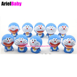 Wholesale Doraemon Figures - New 10PCS Doraemon Mini Dolls Action Figure Collectible Model Baby Toys Boys Birthday Gift 5cm Brinquedos Cake Toppers
