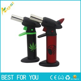 Wholesale Gas Barbecue Lighter - New sale Flamethrower Windproof lighters Barbecue gas jet lighters can adjust the flame Recycling Lighting a cigarette or cigar