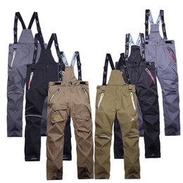 Wholesale Pink Ski Pants - Wholesale- Free Shipping men's ski pants thicken suspenders outdoor ski men skiing and snowboarding pants sport trousers pantalones hombre
