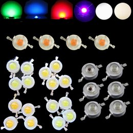 Wholesale Led Red Yellow Grow Light - Wholesale- 10pcs LED Diodes Light Chip Beads 1 W Neutral Cool Warm White Red 660nm Blue445nm Green Yellow IR Full Spectrum Grow Light
