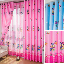 Wholesale Screens For Doors - Children Curtain Window Screening Baby Curtain Kids Bedroom Boys Curtain Blackout Girls Curtains Drapes For Living Room