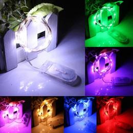 Noël Led strings 2M 20LEDS micro led chaîne de fée lumière Cuivre Fil conduit chaîne avec CR2032 batterie vacances lumière décorations DHL gratuitement ? partir de fabricateur