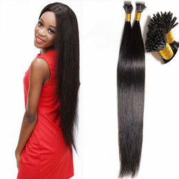 Wholesale hair weaving bond - New Arrival Straight I Tip Stick Hair Extension 18-24 Inch Brazilian Pre-bonded Virgin Hair Extensions Multi-color Remy Human Hair Weaves