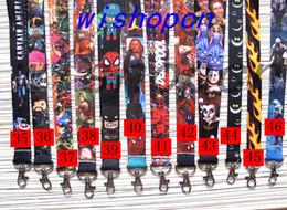 Wholesale Wholesale Superheros - Wholesale Popular Cartoon Superheros Avengers Deadpool Lanyards Keychain ID Badge Holder