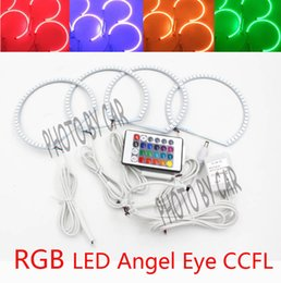 Wholesale Halo Headlight Kits - 4PCS Car RGB Ring led Headlight Angel Eyes Linght For LEXUS IS200 IS300 1998-2005 Excellent Angel kit Multi Color Halo Ring