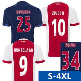 Wholesale Army 4xl - S-4XL 2017 2018 netherlands ajax soccer jersey NOURI ZIYECH home football shirt DOLBERG HUNTELAAR Camiseta 17 18 Ajax Amsterdam maillot