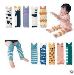 Wholesale Cheap Long Socks - Popular Baby Shark Mouth Warm Feet Ankle Socks Cartoon Animal Prevent Injury Long Socks Cheap Baby Knee Cap Gear Free Shipping
