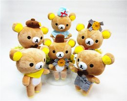 Wholesale Anime Material - Lovely Easily Bear Plush Toy Doll cute Rilakkuma Wedding Material toy gifts kidz children's day presents free shipping