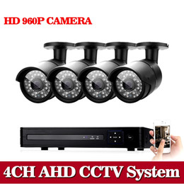 Wholesale Night Dvr System Hdd - 960P AHD 4ch cctv security camera system 4CH HDMI AHD TVI DVR Night Vision IR 1.3MP HD CCTV Security Cameras System QR NO HDD