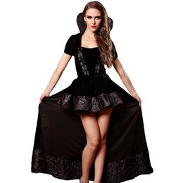 Wholesale Sexy Baby Doll Costumes - Hot Plus Size Women's Sexy Lingerie Black Uniforms Role Playing Stage Costumes Baby Doll Underwear Erotic Lingerie Sexy Dress