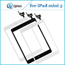 Wholesale Glass Panel Connector - For iPad mini 3 Touch Panel Screen Glass Digitizer With Home Button IC Connector Assembly Complete