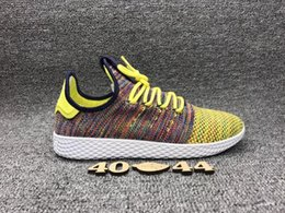 Wholesale Rainbow Rubber Bands - Hot Sale Originals Pharrell Williams Tennis Hu Sports Shoes Cheap Rainbow Stan Smith Running Shoes Man Sneakers Eur 39-44