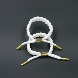 Wholesale couples rope bracelets - USA Braiding Shoelace Sport Bracelets Couple Without Logo Wristband Adjustable 16 cm Ties Bracelet can Mix Styles 12 pcs a lot