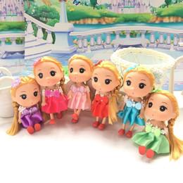 Wholesale Dress For Girl Doll - 12CM LOVELY MINI DUGGN DOLLS PENDANT DOLLS TOY FOR BAG GIRL KEYRING JEWELRY BJD DRESS BABY DOLL TOY FOR GIRL WHOLESALE