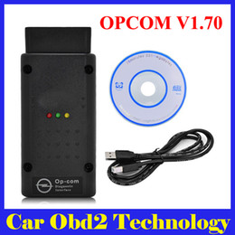 Wholesale Op Com Interface - Newest Opcom OP Com 2012V Can OBD2 for Opel Firmware V1.70 OPCOM with PIC18F458 Chip Auto Diagnostic Interface Free Shipping