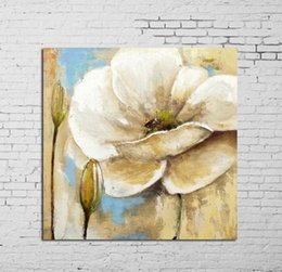 Shop modern white flowers canvas paintings uk modern white flowers uk white flowerspure hand painted modern wall decor floral art oil painting quality canvas mightylinksfo