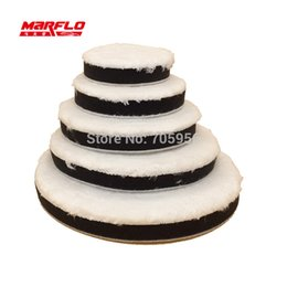 Wholesale wholesale buffing pads - Wholesale- Brilliatech Remove Moderate Paint Car Care 180mm Microfiber Buff Sponge Polishing Pad Wax Appliacator
