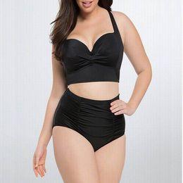Wholesale High Waisted Bikini - swimwear for women High Waist Swimsuit high waisted bikini Women Plus Size Swimwear Print Flower Beach Bikini Set plus size