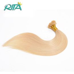Wholesale Synthetic Hair I Tip - 100g Keratin Brazilian Remy Hair Extensions ON Capsules 16inch-26inch 1.0g Strand Real Human Hair Extensions Keratin Stick I tip