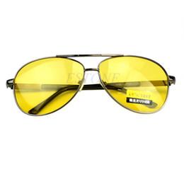 Wholesale Night Goggles Sunglass - Free Shipping Night Vision Glasses Polarized UV400 Driving Glasses Anti-Glare Sunglass