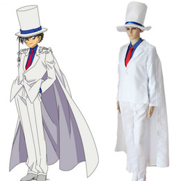 Wholesale Japanese Anime Kids Costume - Kaitou Kiddo Kid the Phantom Thief cosplay costume Japanese anime Detective Conan,Case Closed clothing Masquerade Mardi Gras Carnival costu