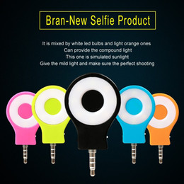 Wholesale Mini Camera Flashlight - universal Rechargeable 8 LED Flash Light Up Selfie Mini Selfie Sync camera phone Flashlight for iphone 5 5s se 6 6s for samsung HTC SONY LG