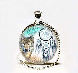 Wholesale Wholesale Native American - Wholesale Dreamcatcher Necklace ,Wolf Necklace ,Dreamcatcher Jewelry, Glass Tile Jewelry Native American Jewelry Wolf Jewelry