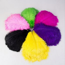 Wholesale Black Feather Plume - 13colours DIY Ostrich Feathers Plume Centerpiece for Wedding Party Table Decoration Wedding Decorations 2016 hot selling 20-25CM