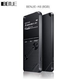 Wholesale Books English - Wholesale- 2017 BENJIE 8GB mp3 music player lossless HiFi MP3 Portable audio player metal MP3 FM radio One-key A-B repeat for English stu