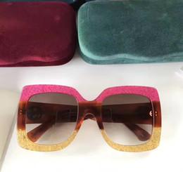 Wholesale Cat Oversized Sunglasses - women 0083S Square-frame glittered acetate sunglasses Oversized Sunglasses Designer Brand Sunglasses 2017 New with Box