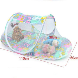 Wholesale Folding Baby Crib Portable - Multi-function Summer Baby Folding Nets Infants Mosquito Polyester Mesh Crib Netting Portable Baby Bed Crib Mosquito Net 3 Colors