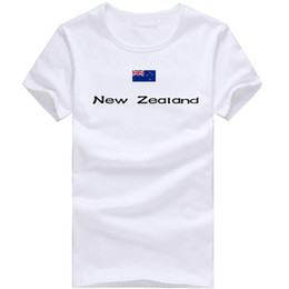 Wholesale Guide Men - New Zealand T shirt Guide man sport short sleeve Cheer instructor tees Nation flag clothing Unisex cotton Tshirt