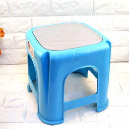 Wholesale Stool Plastic - Thick plastic stool simple fashion table stool durable solid home adult small stool high quality variety of colors