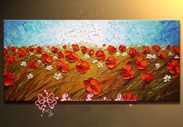 Wholesale Textured Oil Painting Frame - Framed genuine Hand Painted Modern textured blooming Floral Oil Painting On Quality Canvas.Multi sizes Available Free Shipping,Ab035