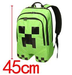 Wholesale Minecraft Free Shipping - 2016 new My World Game Children backpack MC Cartoon Schoolbag Pupils Shoulders Bag Minecraft Kids Backpack free shipping 16 Inch