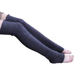 Wholesale Ladies Cashmere Socks - Wholesale- Autumn Winter Stylish Women Fashion Boot Cuffs Leg Warmers Lady Girls Warmer Cashmere Solid Colour Leg Stockings Long Meias Nov1