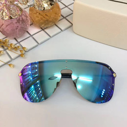 Wholesale brown steampunk - 2180 Sunglasses Rimless Frame Connection Lens UV400 Men Women Brand Designer Coating Mirrorr Lens Steampunk Summer Style Comw With Case