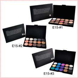 Wholesale Black Eyeshadow Makeup - 15 Color Nude Smoky Pearl Eyeshadow Shimmer Eyeshadow Makeup Palette Set Professional Eye Shadow Foundation Makeup Tool Wholesale 0605101