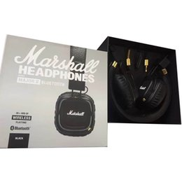 Wholesale Headphones Wireless For Dj - Marshall Major II 2.0 Bluetooth Wireless Headphones in Black DJ Studio Headphones Deep Bass Noise Isolating headset for Samsung
