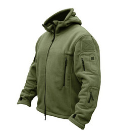 Wholesale Men Zipper Hoodies Fleece - Winter Military Tactical Outdoors Softshell Fleece Jacket Men US Army Polartec Sportswear Clothes Warm Casual Hoodie Coat Jacket