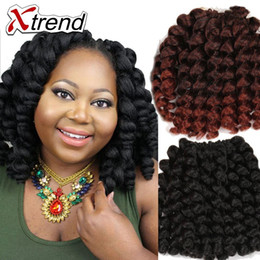 Wholesale Wholesale Janet - Free shipping 8'' Jumpy Wand Curls Crochet 20root Janet Crochet Braids Jamaican Bounce Twist Braid Hair Extension crochet curly