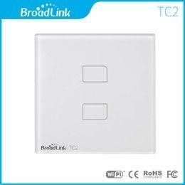 Wholesale Wireless Remote Lamp Switch - Wholesale-Broadlink TC2 EU Standard 2Gang,mobile Wireless Remote Control Light lamp Switch via broadlink rm2 rm pro,Smart Home Automation