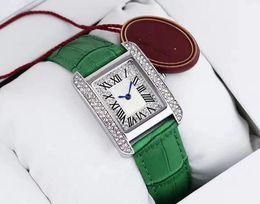 Wholesale Glass Model Cars - quartz Classic model Fashion top brand women wristwatch luxury female watch diamond square face watch high quality big bang watches car t