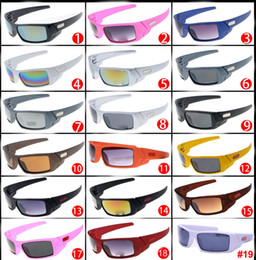 Wholesale Coloured Bicycle - Hot Bicycle Sunglasses Wind sunglasses for men NICE sports Dazzle colour sunglasses for men driving glasses A++ 19 colors free shipping