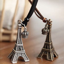 Wholesale Eiffer Tower - Europe and America Free shipping 20pcs lot vintage Eiffer Tower necklace hot selling design whosaler price