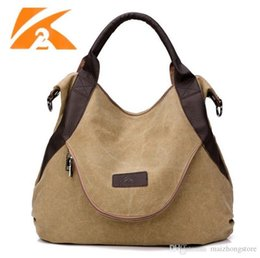 Wholesale Casual Fashion For Big Girls - 2017 Hot selling canvas shoulder bags Message Bag fashion girl handbag big capacity totes for travelling free shipping
