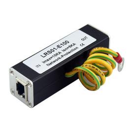 Wholesale Ip Camera Rj45 - RJ45 Network Thunder lightning Arrester Protection RJ45 surge arrester Protector for IP Camera