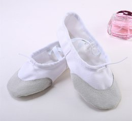 Wholesale ballet shoes girls - Fashion Nice Girls CHildren Beauty ballet Dance Shoes Soft Canvas Dance shoes Athletic shoes 5 colors
